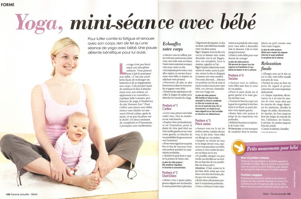Mini séance de Yoga Maman Bébé