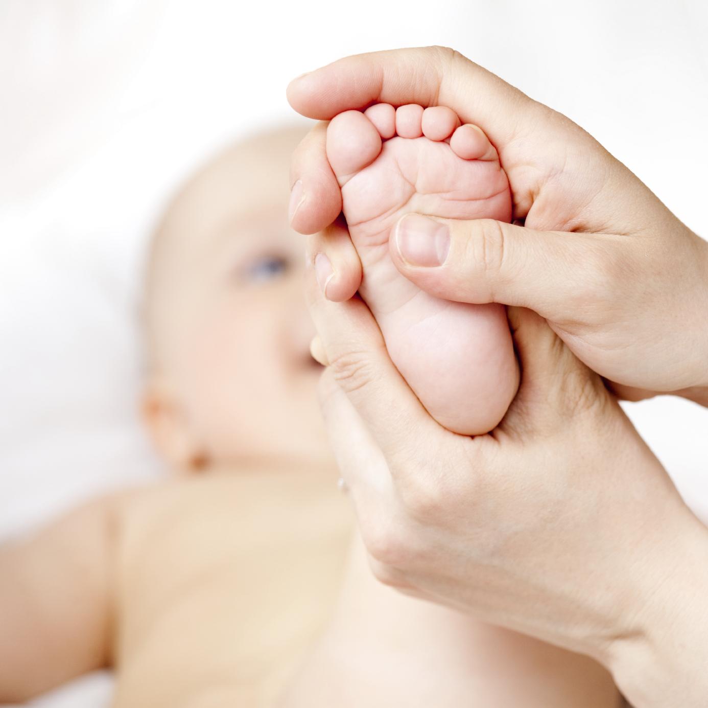 Bébé n'aime pas le massage